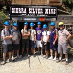 Boys Scouts on tour at the Mine